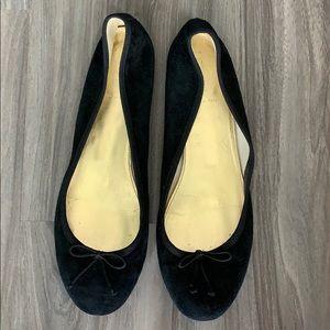 Black Suede J. Crew Ballet Flats Women's Size 9.5